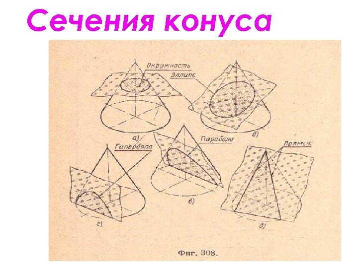 Сечения конуса