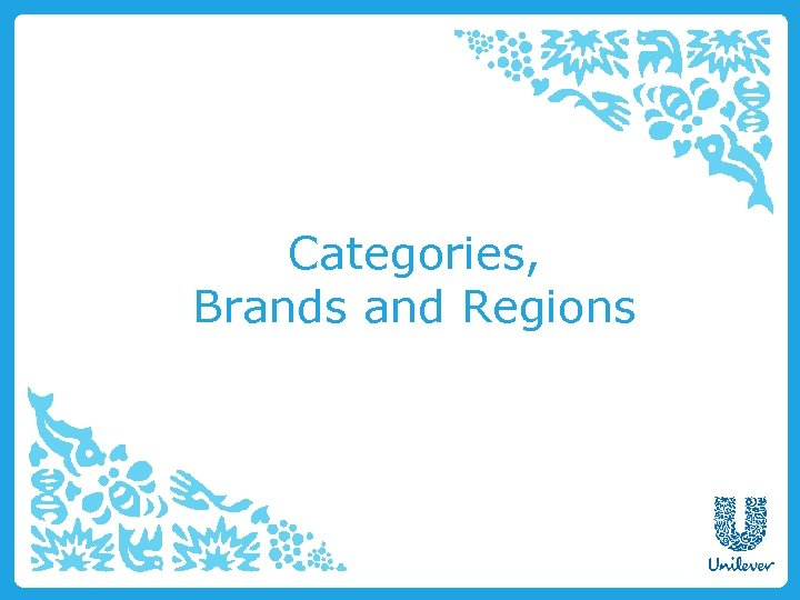 Categories, Brands and Regions
