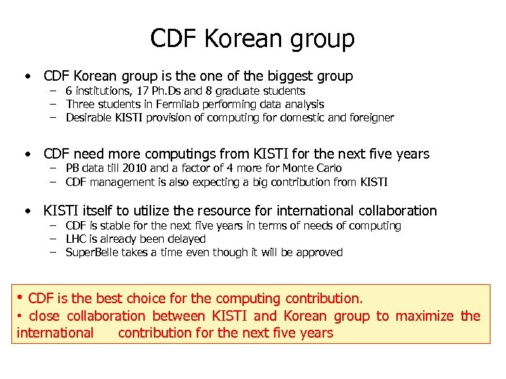 CDF Korean group • CDF Korean group is the one of the biggest group