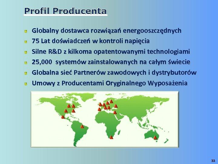 Profil Producenta Globalny dostawca rozwiązań energooszczędnych 75 Lat doświadczeń w kontroli napięcia Silne R&D