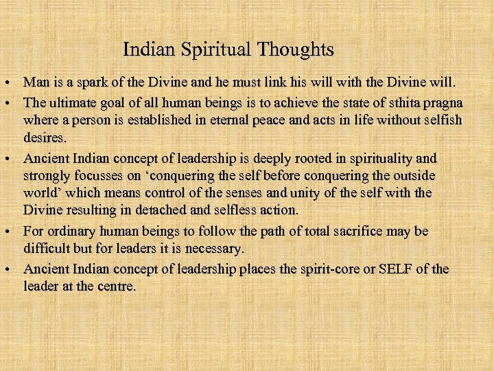 Indian Spiritual Thoughts • Man is a spark of the Divine and he must