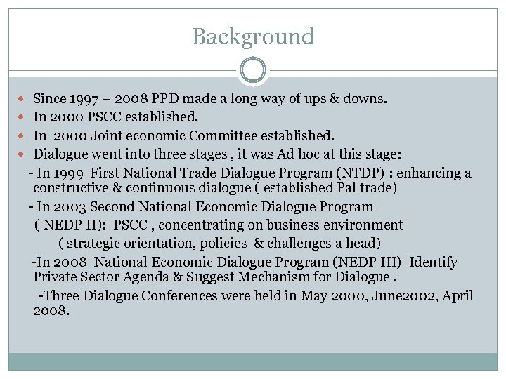 Background Since 1997 – 2008 PPD made a long way of ups & downs.