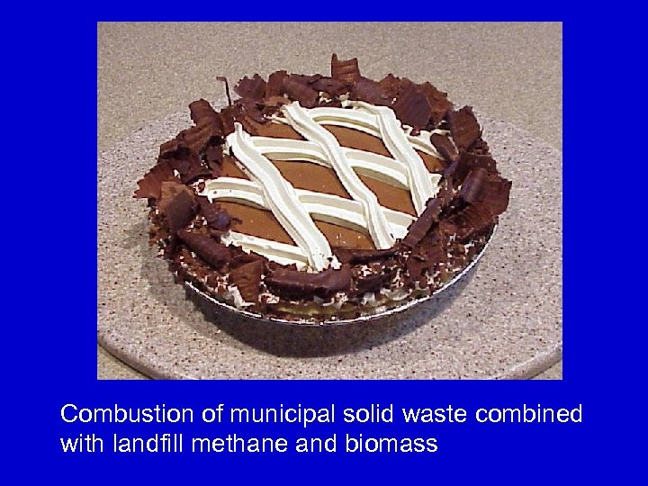 Combustion of municipal solid waste combined with landfill methane and biomass