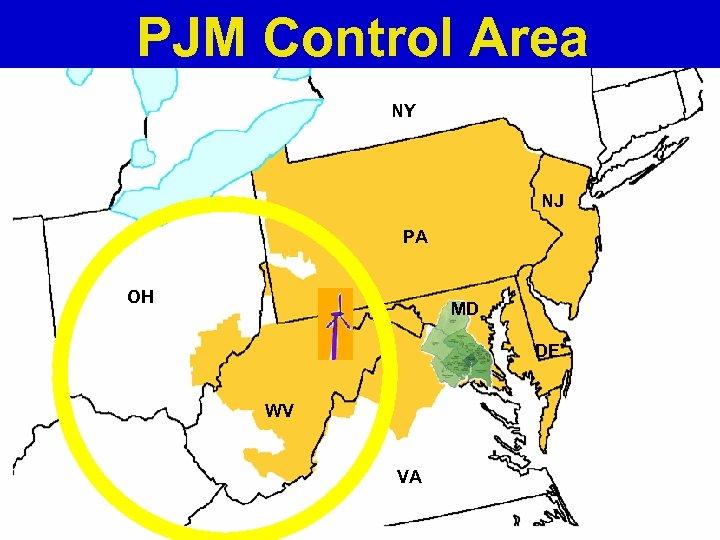 PJM Control Area NY NJ PA OH MD DE WV VA