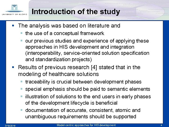 Introduction of the study § The analysis was based on literature and § the