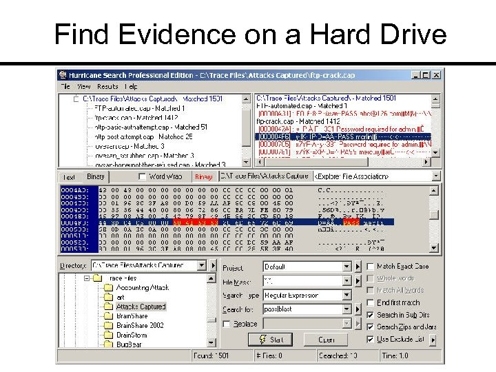 Find Evidence on a Hard Drive