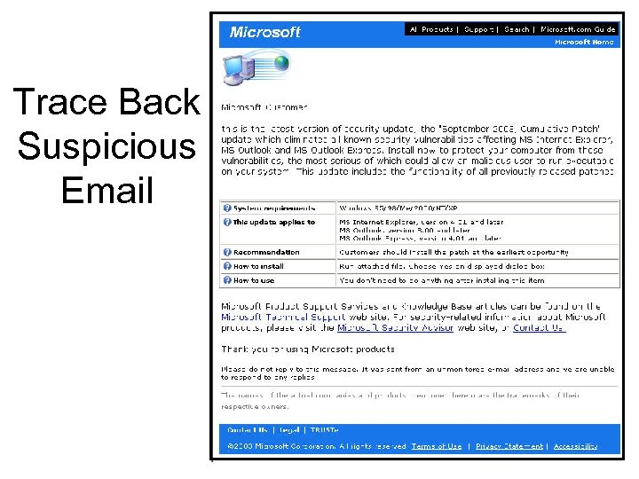 Trace Back Suspicious Email