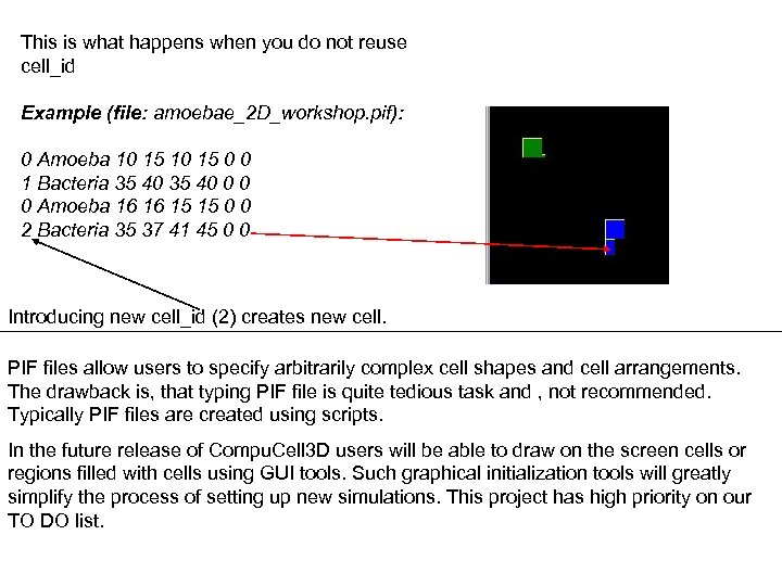 This is what happens when you do not reuse cell_id Example (file: amoebae_2 D_workshop.