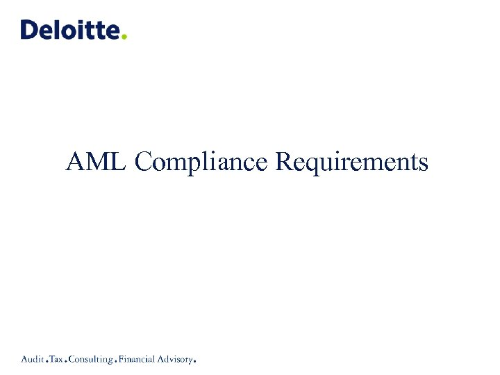 AML Compliance Requirements