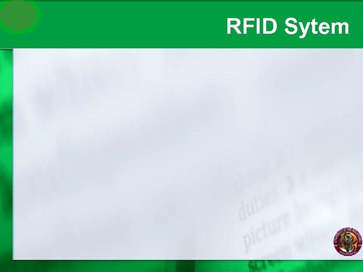 RFID Sytem