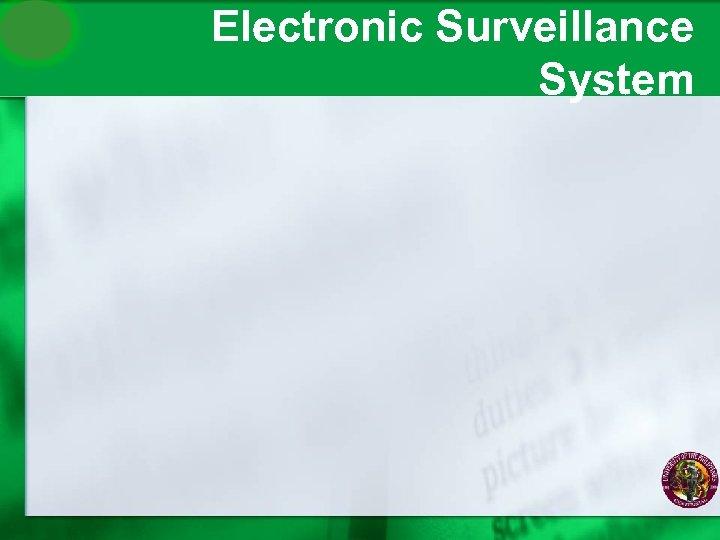 Electronic Surveillance System