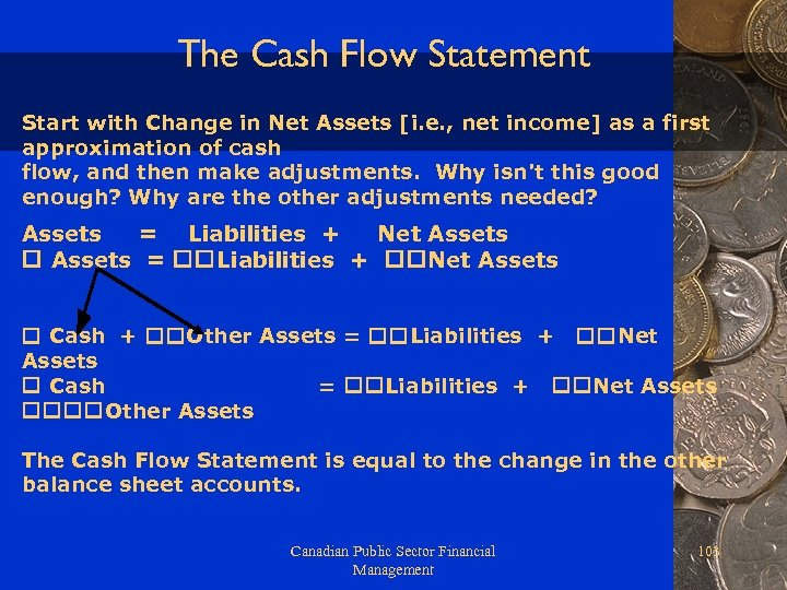 The Cash Flow Statement Start with Change in Net Assets [i. e. , net