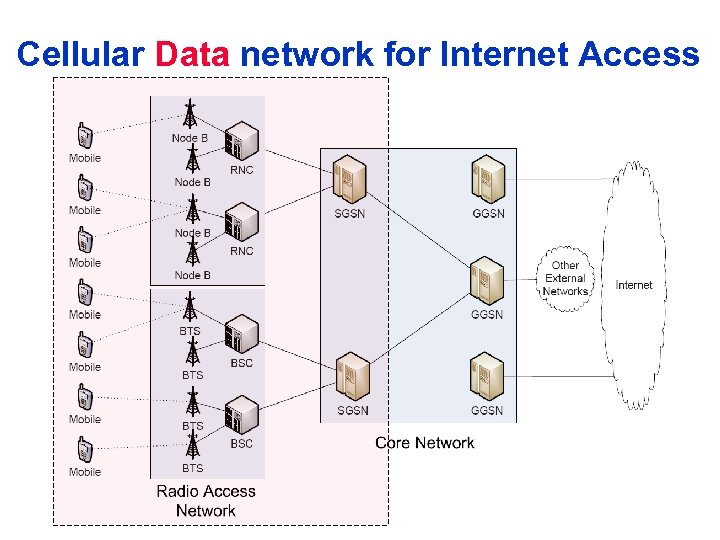 Cellular Data network for Internet Access