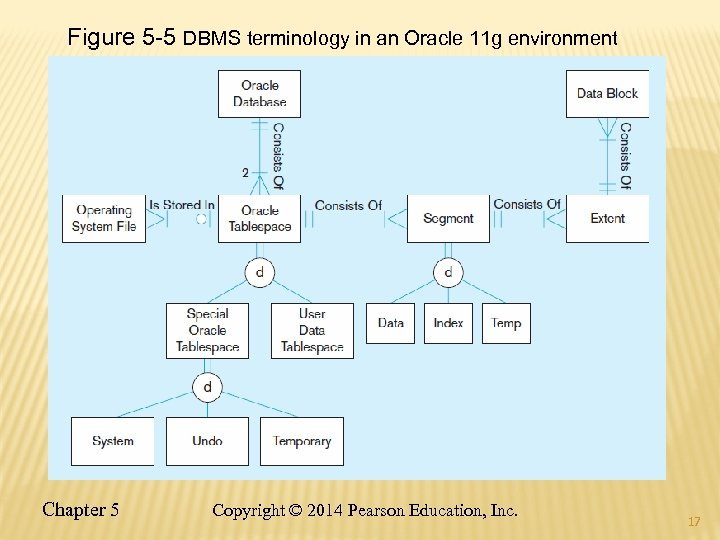 Figure 5 -5 DBMS terminology in an Oracle 11 g environment Chapter 5 Copyright