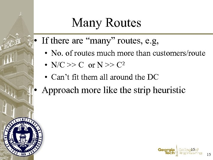 """Many Routes • If there are """"many"""" routes, e. g, • No. of routes"""