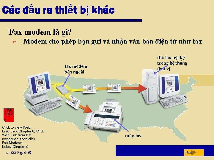 Các đầu ra thiết bị khác Fax modem là gì? Ø Modem cho phép