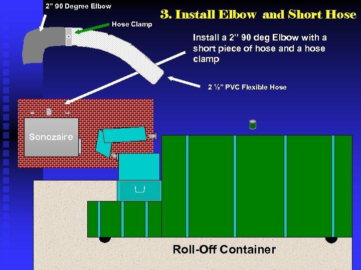 "2"" 90 Degree Elbow Hose Clamp 3. Install Elbow and Short Hose Install a"