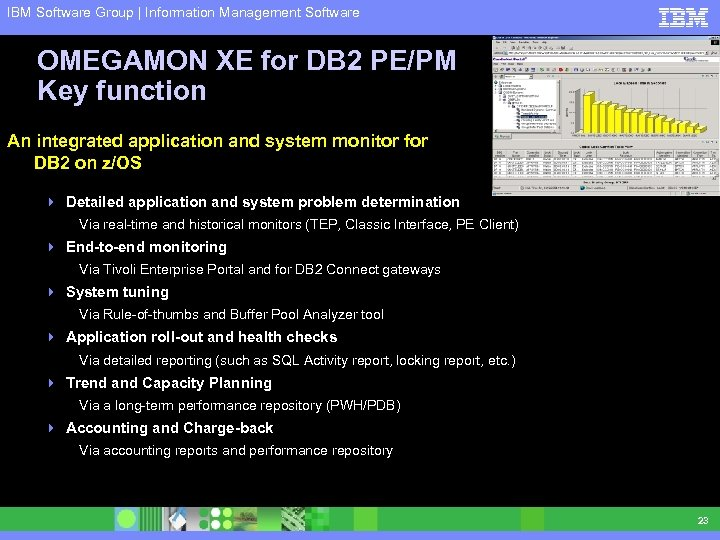 IBM Software Group | Information Management Software OMEGAMON XE for DB 2 PE/PM Key