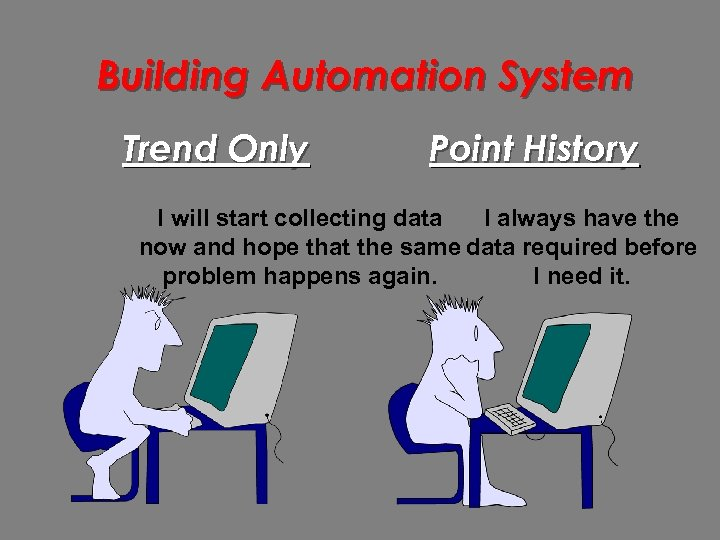 Building Automation System Trend Only Point History I will start collecting data I always