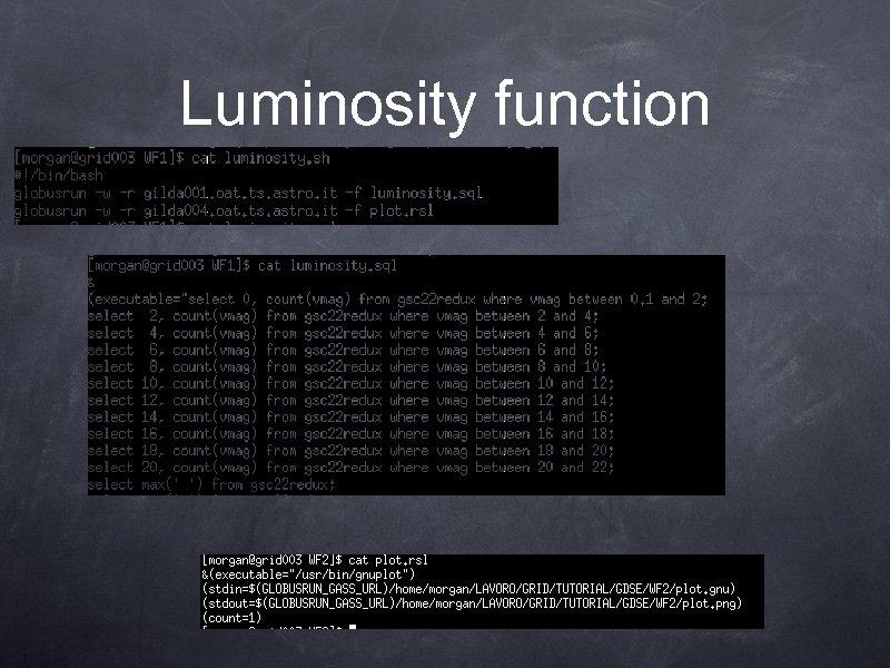 Luminosity function