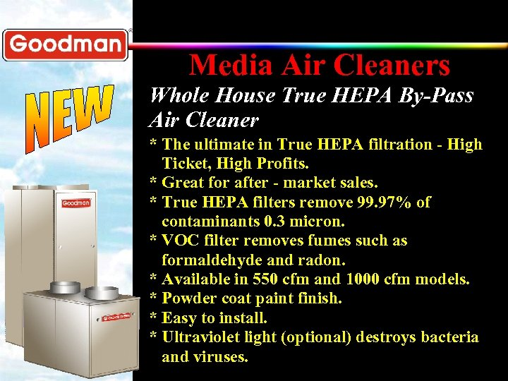 Media Air Cleaners Whole House True HEPA By-Pass Air Cleaner * The ultimate in