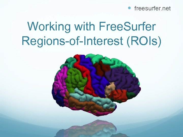 freesurfer. net Working with Free. Surfer Regions-of-Interest (ROIs)