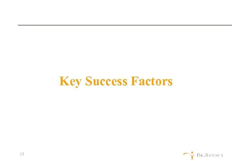 Key Success Factors 15