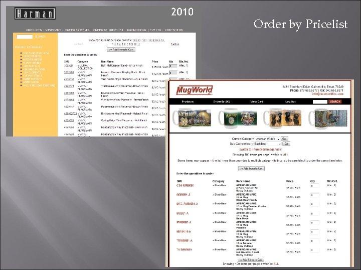 Order by Pricelist