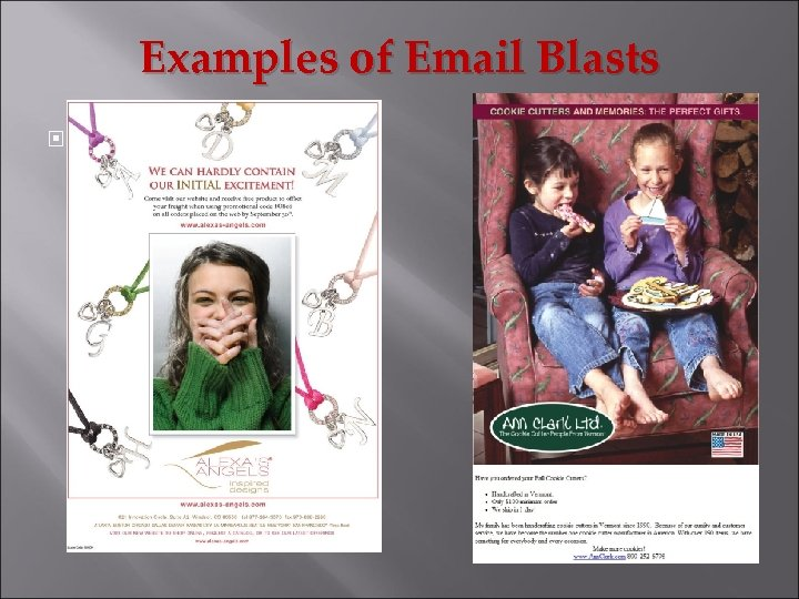 Examples of Email Blasts
