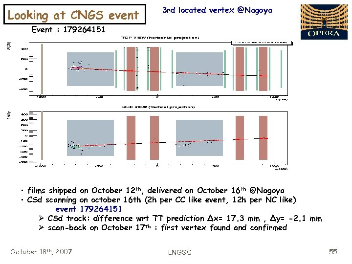 Looking at CNGS event 3 rd located vertex @Nagoya Event : 179264151 • films