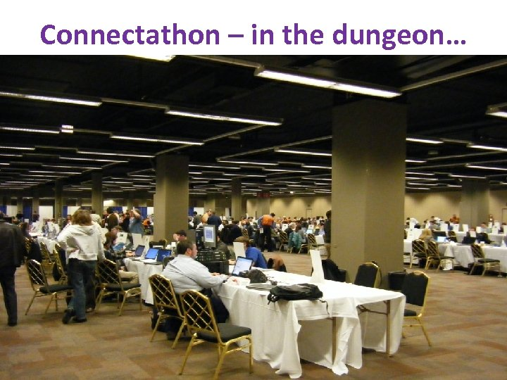 Connectathon – in the dungeon… www. ihe. net