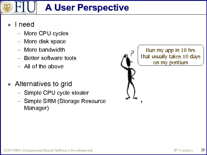A User Perspective I need – – – More CPU cycles More disk space
