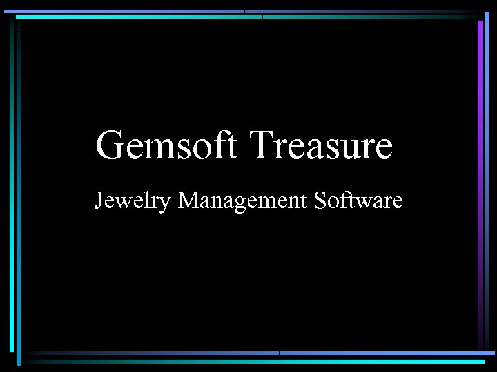 Gemsoft Treasure Jewelry Management Software