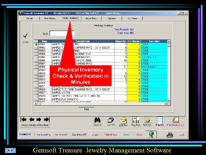 Physical Inventory Check & Verification in Minutes Gemsoft Treasure Jewelry Management Software