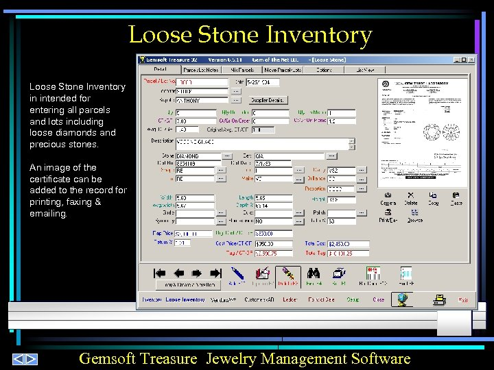 Loose Stone Inventory in intended for entering all parcels and lots including loose diamonds