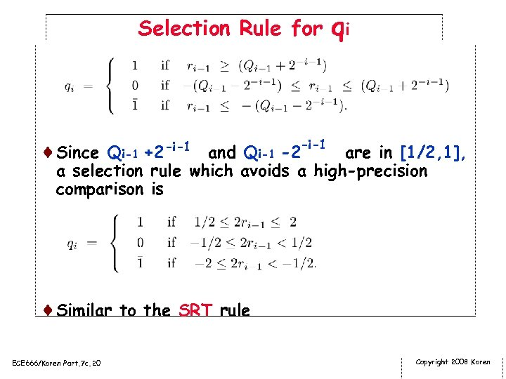 Selection Rule for qi ¨Since Qi-1 +2 -i-1 and Qi-1 -2 -i-1 are in