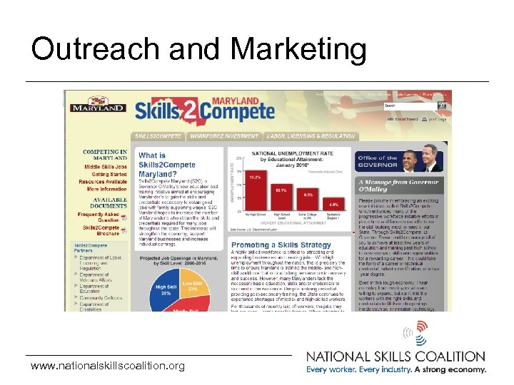 Outreach and Marketing www. nationalskillscoalition. org