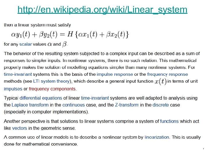 http: //en. wikipedia. org/wiki/Linear_system 7
