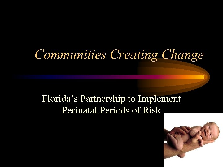 Communities Creating Change Florida's Partnership to Implement Perinatal Periods of Risk