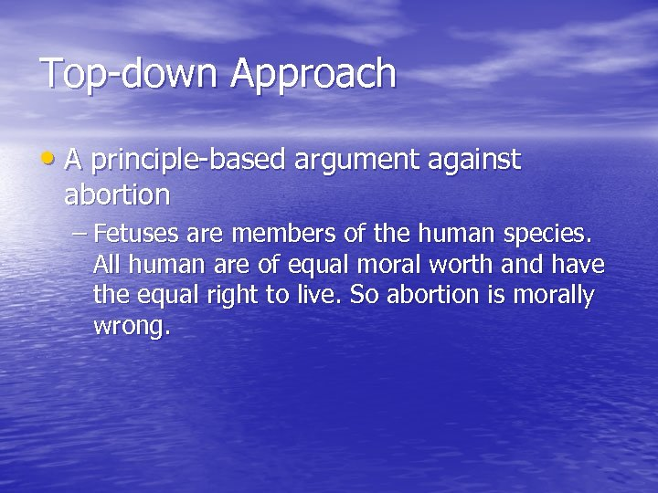 a question on the morality behind the murder of a fetus in abortion case of medical practice Many are vocal, however, about the violence associated with abortion procedures, especially in the case of partial birth abortion in a decision that presumably involves a woman and a man, a doctor, and a fetus, the question of whose voice counts is highly charged.