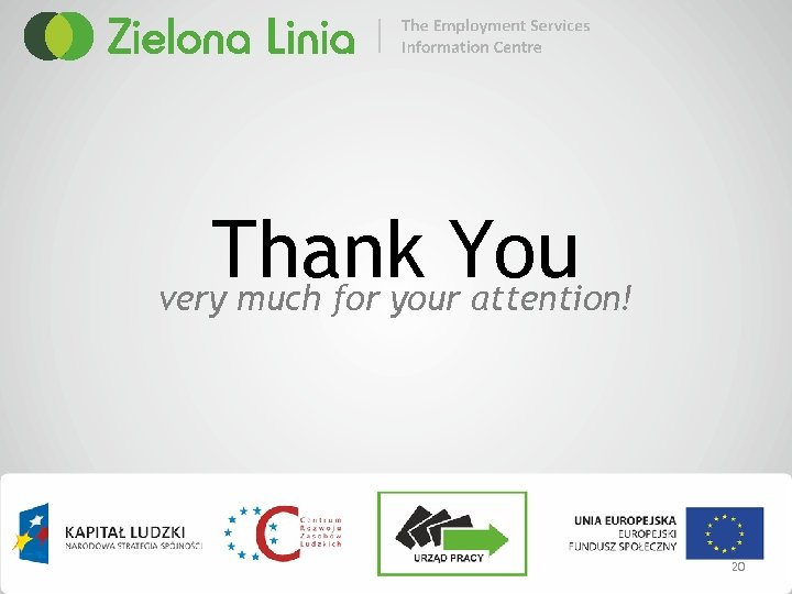 Thank You very much for your attention! 20