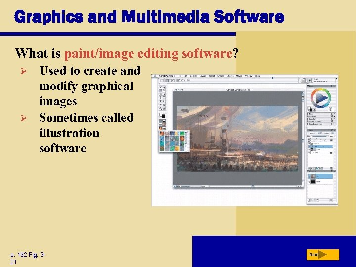 Graphics and Multimedia Software What is paint/image editing software? Ø Ø Used to create