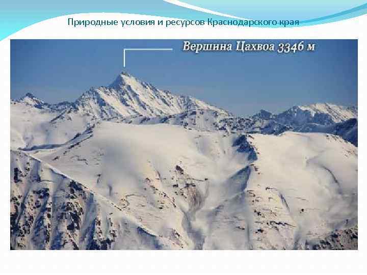 Природные условия и ресурсов Краснодарского края