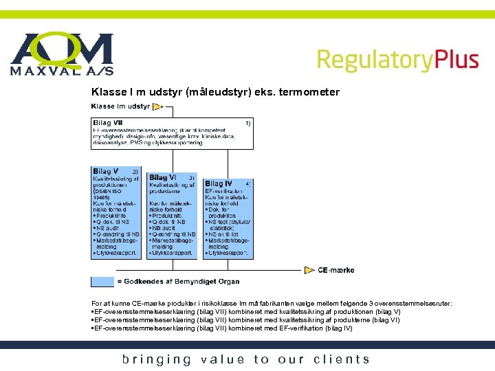 Klasse I m udstyr (måleudstyr) eks. termometer For at kunne CE-mærke produkter i risikoklasse