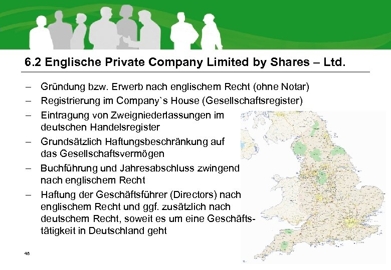6. 2 Englische Private Company Limited by Shares – Ltd. – Gründung bzw. Erwerb