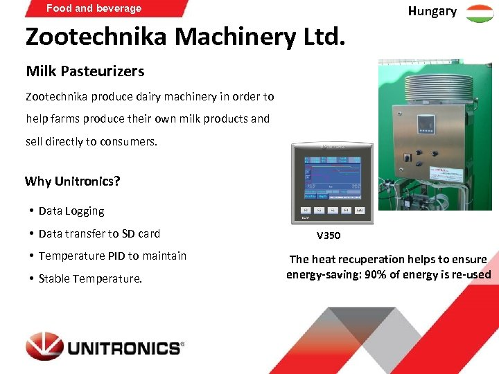 Food and beverage Zootechnika Machinery Ltd. Hungary Milk Pasteurizers Zootechnika produce dairy machinery in