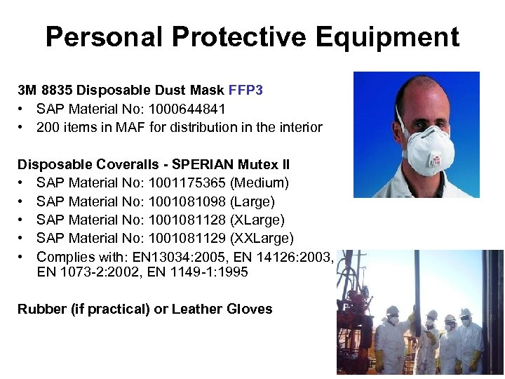 Personal Protective Equipment 3 M 8835 Disposable Dust Mask FFP 3 • SAP Material