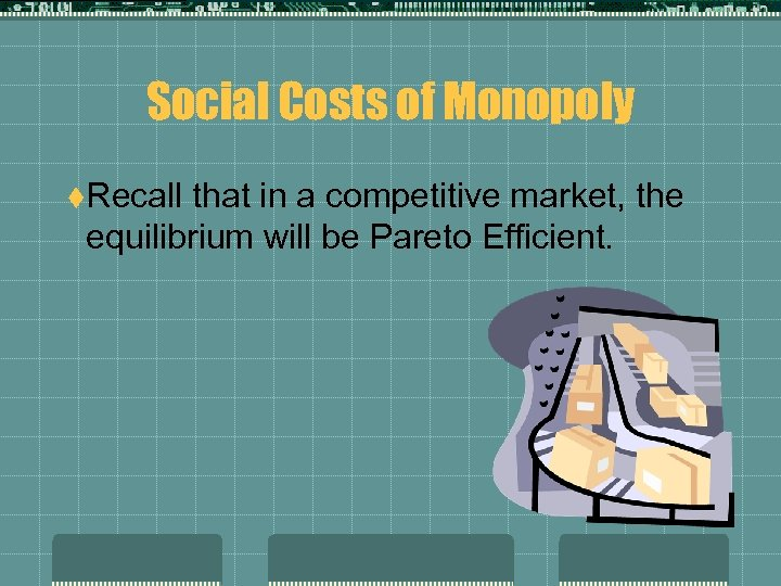 Social Costs of Monopoly t. Recall that in a competitive market, the equilibrium will
