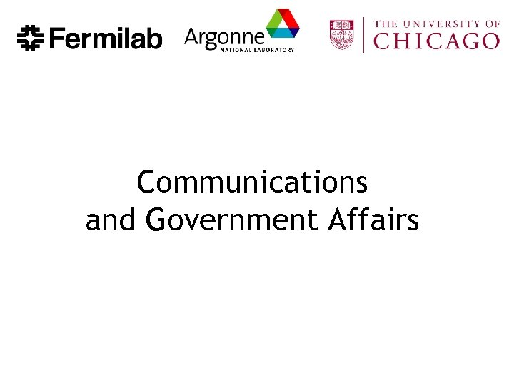 Communications and Government Affairs