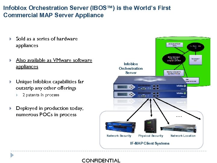 Infoblox Orchestration Server (IBOS™) is the World's First Commercial MAP Server Appliance Sold as